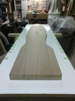 2nd half on the table ready for shaping.
