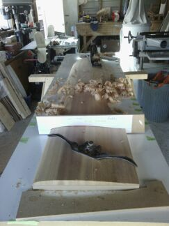 Final shaping ith hand plane and spokeshave.