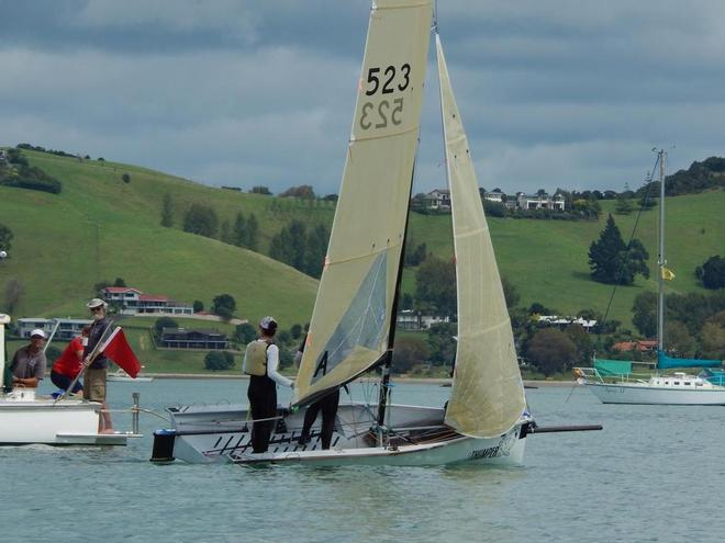 Auckland's Thumper at the Committee Boat 'Una' - 2016 Sanders Cup © Ruth WCC